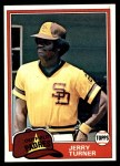 1981 Topps #285  Jerry Turner  Front Thumbnail