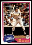 1981 Topps #383  Eric Soderholm  Front Thumbnail