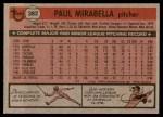 1981 Topps #382  Paul Mirabella  Back Thumbnail