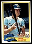 1981 Topps #368  Leon Roberts  Front Thumbnail