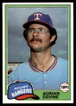 1981 Topps #464  Adrian Devine  Front Thumbnail