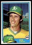 1981 Topps #481  Bob Lacey  Front Thumbnail