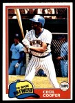 1981 Topps #555  Cecil Cooper  Front Thumbnail