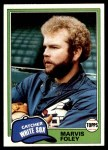 1981 Topps #646  Marvis Foley  Front Thumbnail