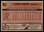 1981 Topps #557  Chris Knapp  Back Thumbnail