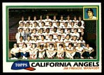 1981 Topps #663   Angels Team Checklist Front Thumbnail