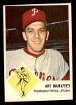 1963 Fleer #54  Art Mahaffey  Front Thumbnail