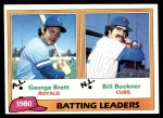 1981 Topps #1   -  Bill Buckner / George Brett Batting Leaders Front Thumbnail