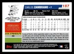2006 Topps #157  Carlos Zambrano  Back Thumbnail