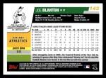 2006 Topps #143  Joe Blanton  Back Thumbnail