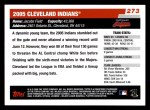 2006 Topps #273   Cleveland Indians Team Back Thumbnail