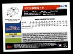 2006 Topps #298   -  Jason Botts Rookie Card Back Thumbnail