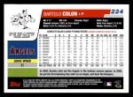 2006 Topps #224  Bartolo Colon  Back Thumbnail