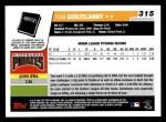 2006 Topps #315   -  Tom Gorzelanny Rookie Card Back Thumbnail