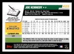 2006 Topps #425  Joe Kennedy  Back Thumbnail