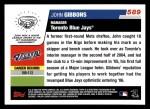 2006 Topps #589  John Gibbons  Back Thumbnail