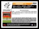 2006 Topps #624   -  J.J. Furmaniak Rookie Card Back Thumbnail