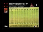 2007 Topps #8  Preston Wilson  Back Thumbnail