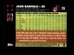 2007 Topps #79  Josh Barfield  Back Thumbnail