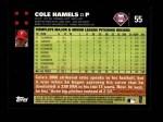 2007 Topps #55  Cole Hamels  Back Thumbnail
