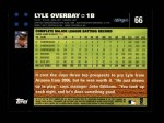 2007 Topps #66  Lyle Overbay  Back Thumbnail