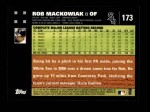 2007 Topps #173  Rob Mackowiak  Back Thumbnail