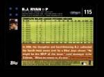2007 Topps #115  B.J. Ryan  Back Thumbnail