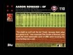 2007 Topps #110  Aaron Rowand  Back Thumbnail