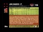 2007 Topps #136  Jon Rauch  Back Thumbnail
