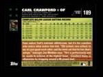 2007 Topps #189  Carl Crawford  Back Thumbnail