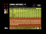 2007 Topps #131  Chris Snyder  Back Thumbnail