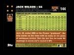 2007 Topps #144  Jack Wilson  Back Thumbnail