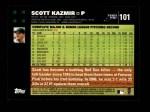 2007 Topps #101  Scott Kazmir  Back Thumbnail