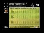 2007 Topps #224  Matt Thornton  Back Thumbnail