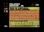 2007 Topps #299   -  Orlando Hudson Golden Glove Back Thumbnail