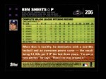 2007 Topps #206  Ben Sheets  Back Thumbnail