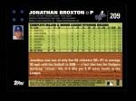 2007 Topps #209  Jonathan Broxton  Back Thumbnail