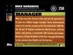 2007 Topps #258  Mike Hargrove  Back Thumbnail