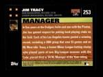 2007 Topps #253  Jim Tracy  Back Thumbnail