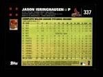 2007 Topps #337  Jason Isringhausen  Back Thumbnail