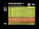 2007 Topps #382  Kevin Millwood  Back Thumbnail