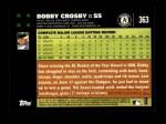 2007 Topps #363  Bobby Crosby  Back Thumbnail