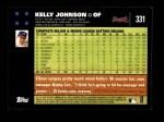 2007 Topps #331  Kelly Johnson  Back Thumbnail
