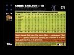 2007 Topps #479  Chris Shelton  Back Thumbnail