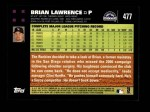 2007 Topps #477  Brian Lawrence  Back Thumbnail