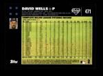 2007 Topps #471  David Wells  Back Thumbnail