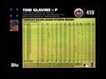2007 Topps #410  Tom Glavine  Back Thumbnail