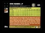 2007 Topps #424  Dan Haren  Back Thumbnail