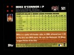 2007 Topps #501  Mike O'Connor  Back Thumbnail