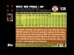 2007 Topps #538  Wily Mo Pena  Back Thumbnail